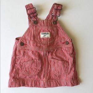 Osh Kosh 6 mo girls denim skirt overall